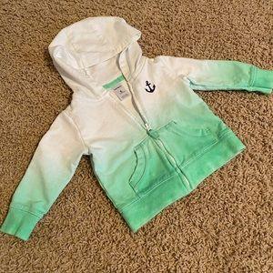 Nautical ombré baby sweatshirt